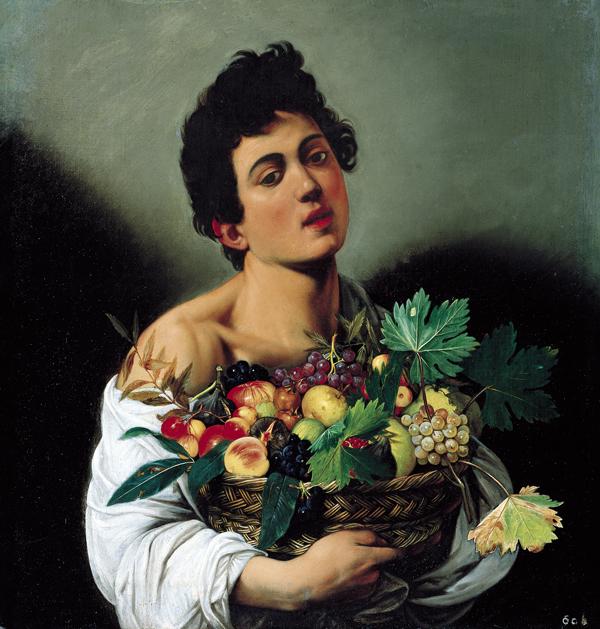 ragazzo con il canestro di Frutta