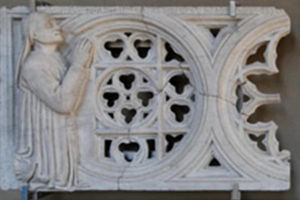 Gebart Gestione servizi Beni Culturali Museo Nazionale del Palazzo di Venezia Transenna con due donatori Di Stefano
