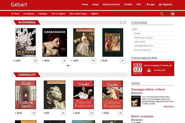 Gebart Gestione servizi Beni Culturali Eventi Shop online