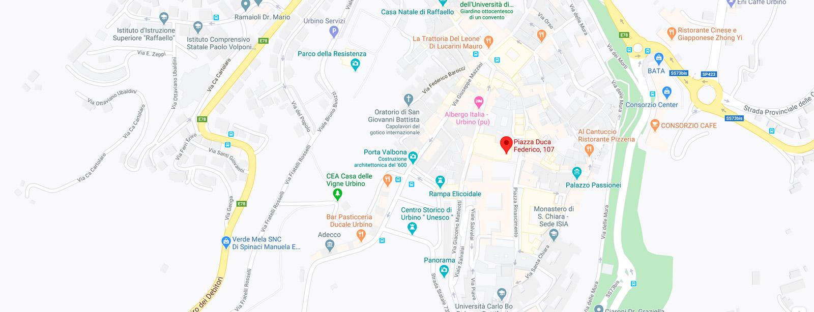 Gebart SPA Galleria Nazionale delle Marche Palazzo Ducale di Urbino Mappa