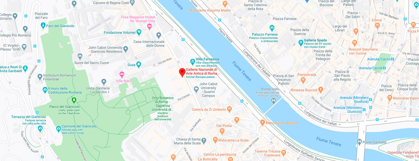 Gebart SPA Gallerie Nazionali Barberini Corsini Galleria Corsini Mappa
