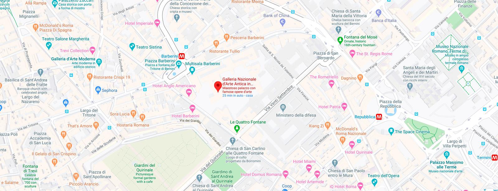 Gebart SPA Gallerie Nazionali Barberini Corsini Palazzo Barberini Mappa