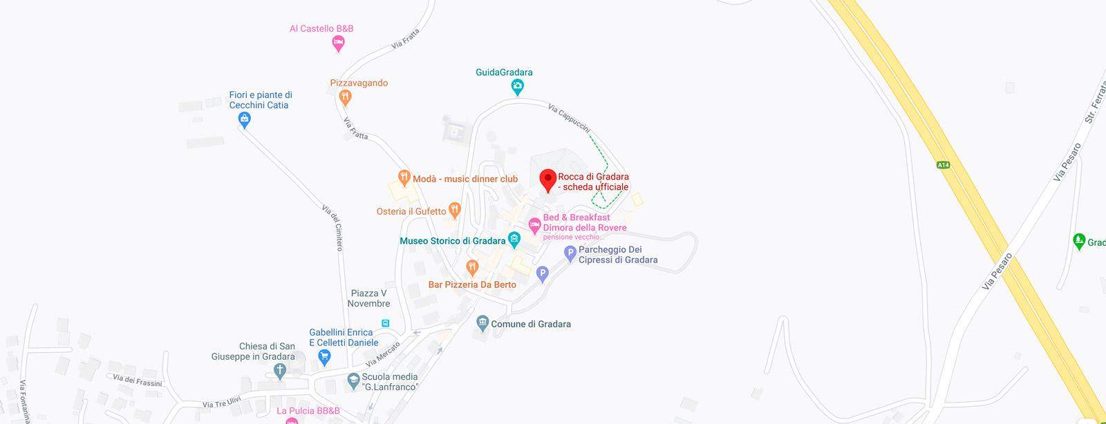Gebart SPA Rocca Demaniale di Gradara Mappa